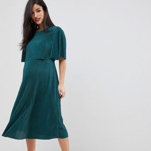 ASOS design maternity nursing dress in teal